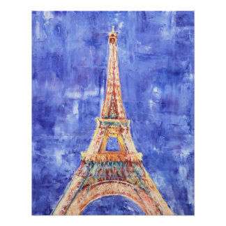 Eiffel Tower Canvas Poster Print