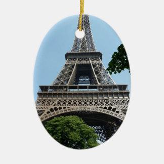 Eiffel Tower Ceramic Oval Decoration