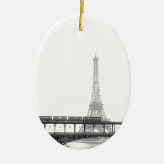 Eiffel Tower Ceramic Oval Decoration