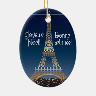 Eiffel Tower Christmas Ornament