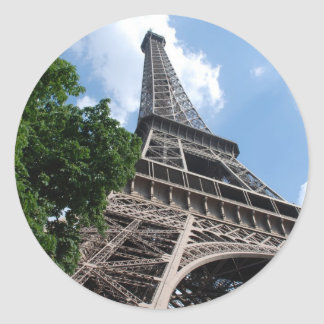Eiffel Tower Classic Round Sticker