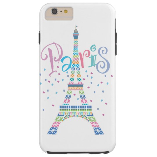 Eiffel Tower Confetti iPhone 6/6S Plus Tough Case