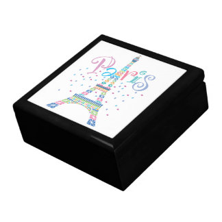 Eiffel Tower Confetti Large Gift Box