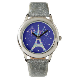 Eiffel Tower Confetti Wrist Watch