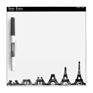 Eiffel Tower Construction Dry Erase Whiteboard