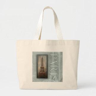 Eiffel Tower Design Canvas Bags