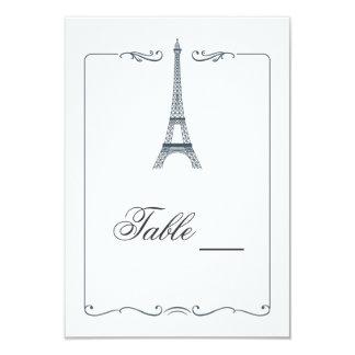 Eiffel Tower Elegant Table Card 9 Cm X 13 Cm Invitation Card