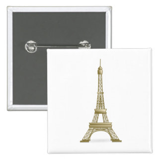 Eiffel tower, France clipart Button