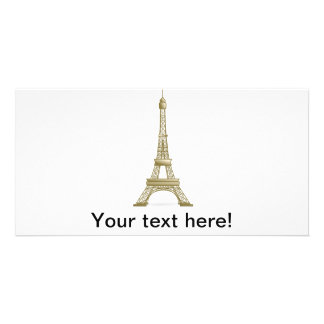 Eiffel tower, France clipart Photo Card Template