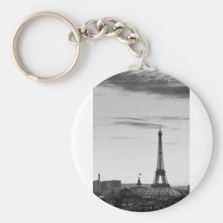 Eiffel Tower, France Basic Round Button Key Ring