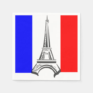 Eiffel Tower France Paper Napkin