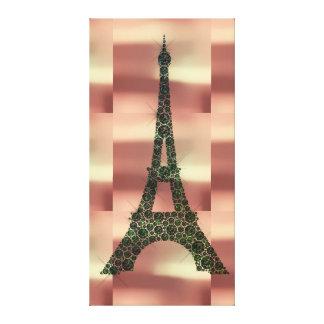 Eiffel Tower French Paris Geometry Tropical Luxury Canvas Print