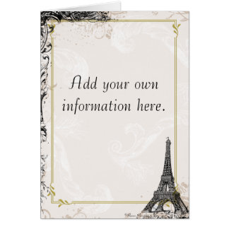 Eiffel Tower French Stationery Greeting Card