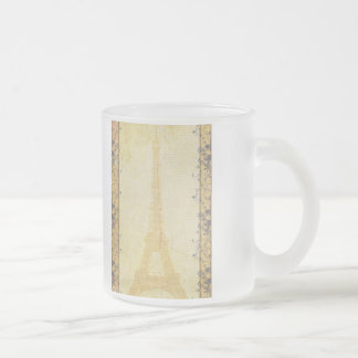 Eiffel Tower French theme Frosted Glass Coffee Mug