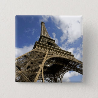 Eiffel tower from low angle 15 cm square badge