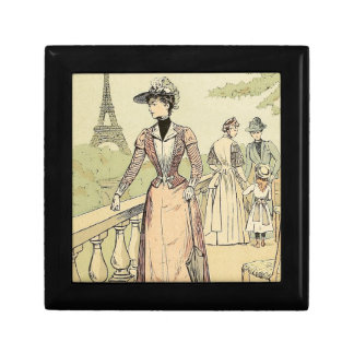 Eiffel Tower from the Exhibition Gardens 1889 Small Square Gift Box