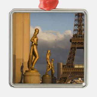 Eiffel Tower from the Palais de Chaillot, Paris, Christmas Ornament