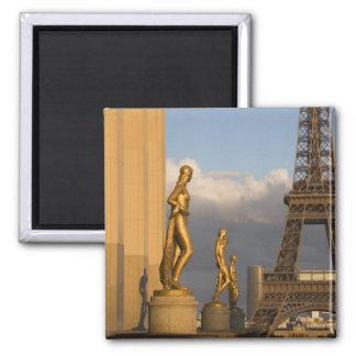 Eiffel Tower from the Palais de Chaillot, Paris, Square Magnet