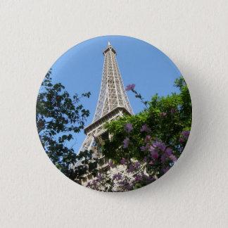 Eiffel Tower Garden 6 Cm Round Badge