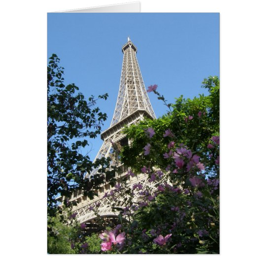 Eiffel Tower Garden Card