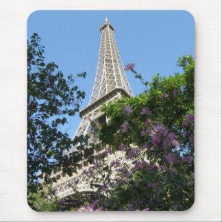 Eiffel Tower Garden Mouse Mat