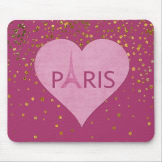 Eiffel Tower Gold Glam Confetti Dots | Paris Mouse Mat