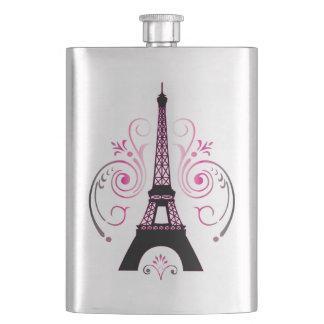 Eiffel Tower Gradient Swirl Design Flask