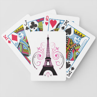 Eiffel Tower Gradient Swirl Design Playing Cards