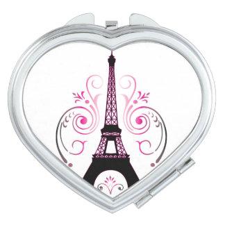 Eiffel Tower Gradient Swirl Design Vanity Mirror