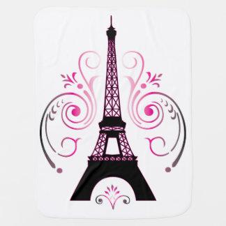 Eiffel Tower Gradient Swirl Design Swaddle Blankets