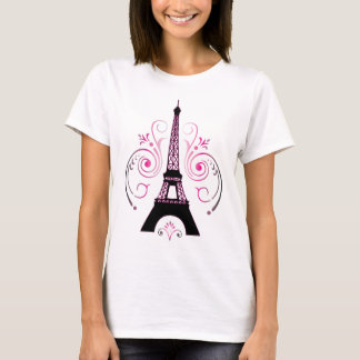 Eiffel Tower Graphic Design Tshirt