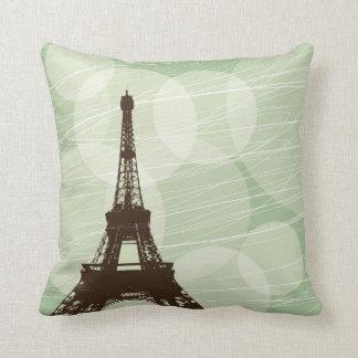Eiffel Tower - Green Cushion