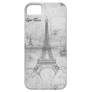 Eiffel Tower Grey iPhone 5 Case