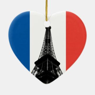 Eiffel Tower Heart Ornament