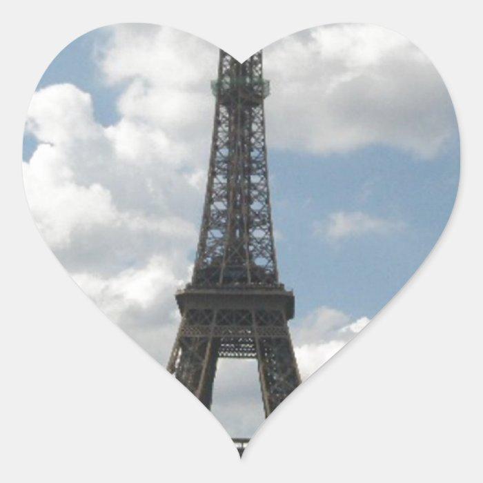 Eiffel Tower Heart Sticker