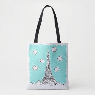 Eiffel Tower Illustration bags