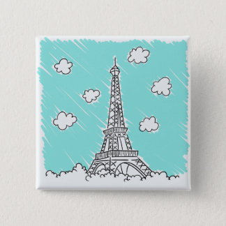 Eiffel Tower Illustration button