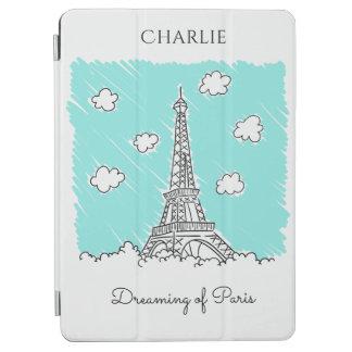 Eiffel Tower Illustration custom device covers iPad Air Cover