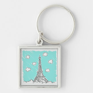 Eiffel Tower Illustration key chain