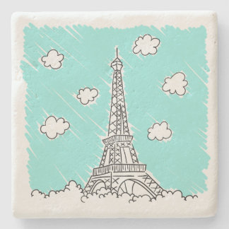 Eiffel Tower Illustration stone coasters