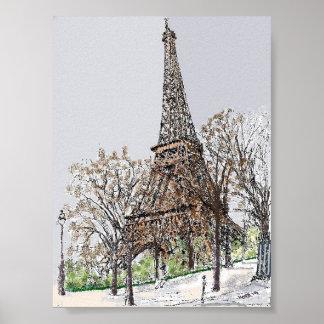 Eiffel Tower impression on cotton 100% by Koté 201 Poster
