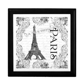 Eiffel Tower in Black and White Large Square Gift Box