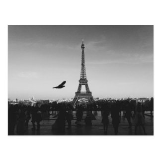 Eiffel Tower in black and white Postcard