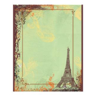 Eiffel Tower in Green Flyer Announcements