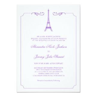 Eiffel Tower in Lavender Elegant Wedding Invitatio 11 Cm X 16 Cm Invitation Card
