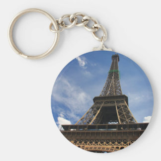 Eiffel tower in Paris Basic Round Button Key Ring
