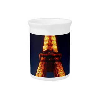 Eiffel tower in Paris Beverage Pitcher
