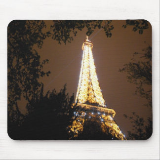 Eiffel Tower in Paris, France at Night Mouse Mat