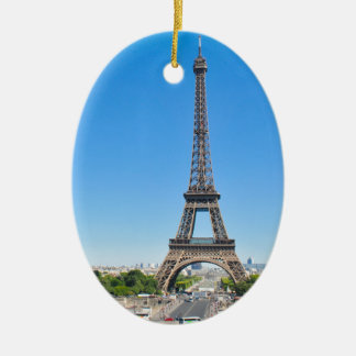 Eiffel Tower in Paris, France Ceramic Oval Decoration