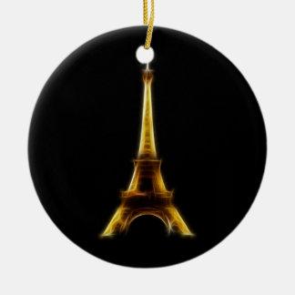 Eiffel Tower in Paris France Christmas Ornament